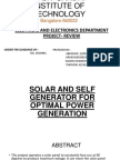 solar and self generator for optimal power generation