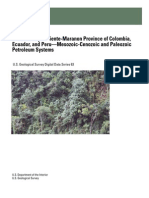 DEBRA K. HIGLEY (2001) The Putumayo-Oriente-Maranon Province of Colombia, Ecuador, and Peru—Mesozoic-Cenozoic and Paleozoic Petroleum Systems. U.S. Geological Survey. Digital Data Series 63, 40p