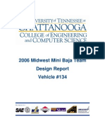 2006 Midwest Mini Baja Team Design Report Vehicle #134