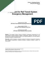 APTA RT OP S 007 04 Standard for Rail Transit System Emergency Management