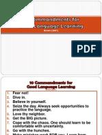 10 Commandments for GOOD Language LEARNING