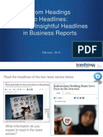 From Headings to Headlines