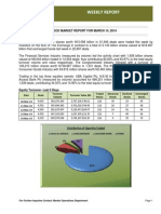 Nigerian Stock Exchange Weekly Market Report for the Week Ended 14-03-2014