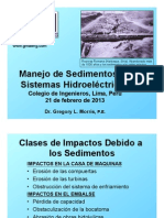 Manejo de Sedimentos en Sistemas Hidroelectricos