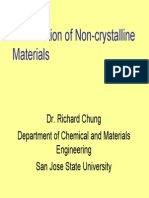 Deformation of Noncrystalline Materials