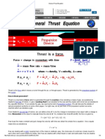 General Thrust Equation