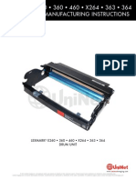 Lexmark e460 Opc Remanufacturing Eng