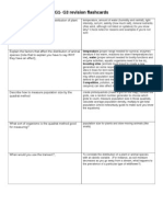 G1-G3 Flashcards for Revision