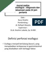Definisi perforasi esofagus