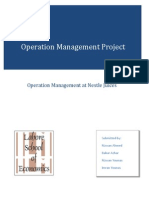 Production Operation Management Project