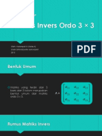 Matriks Invers Ordo 3x3