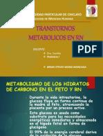 Transtornos Metabolicos en Rn - Final