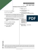 Patente Glucosamina