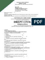 Manual D Cornoiu,  Drept Civil Persoanele 2007