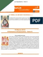 16 Marzo 2014 - II Domenica Di Quaresima - Anno A