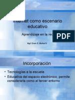 Internet Como Escenario Educativo