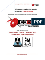 CPODS Training Metasploit KUNGFU