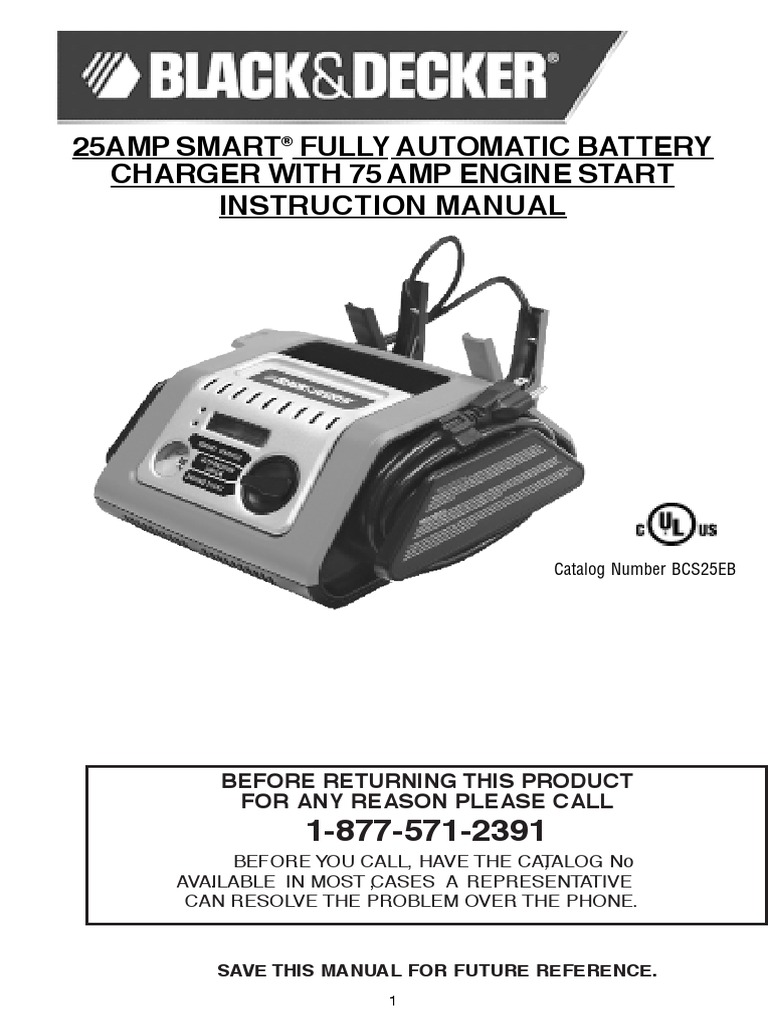 Bcs25eb Manual Battery Charger Battery Electricity