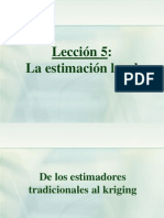 05 - Estimación local