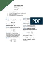 Prova 1 de Álgebra Linear - Licenciatura em Física UFPR