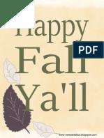 Fall Seasonal Printable
