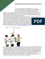 Essential   facettes  domaines de World- wide-web des services de SEO