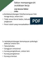 Faktor2 Mempengaruhi Kecelakaan Kerja