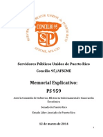 Ponencia SPUPR, Concilio 95-AFSCME- en contra de PS 959 Bono Navidad 12-03-2014