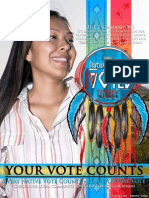 Native Vote - Pow Wow The Vote Poster Board