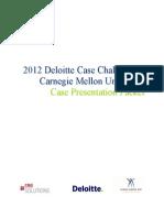 CMU Case Challenge 2012 - Final