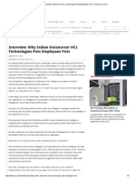 Interview_ Why Indian Outsourcer HCL Technologies Puts Employees First - Article on _ CIO