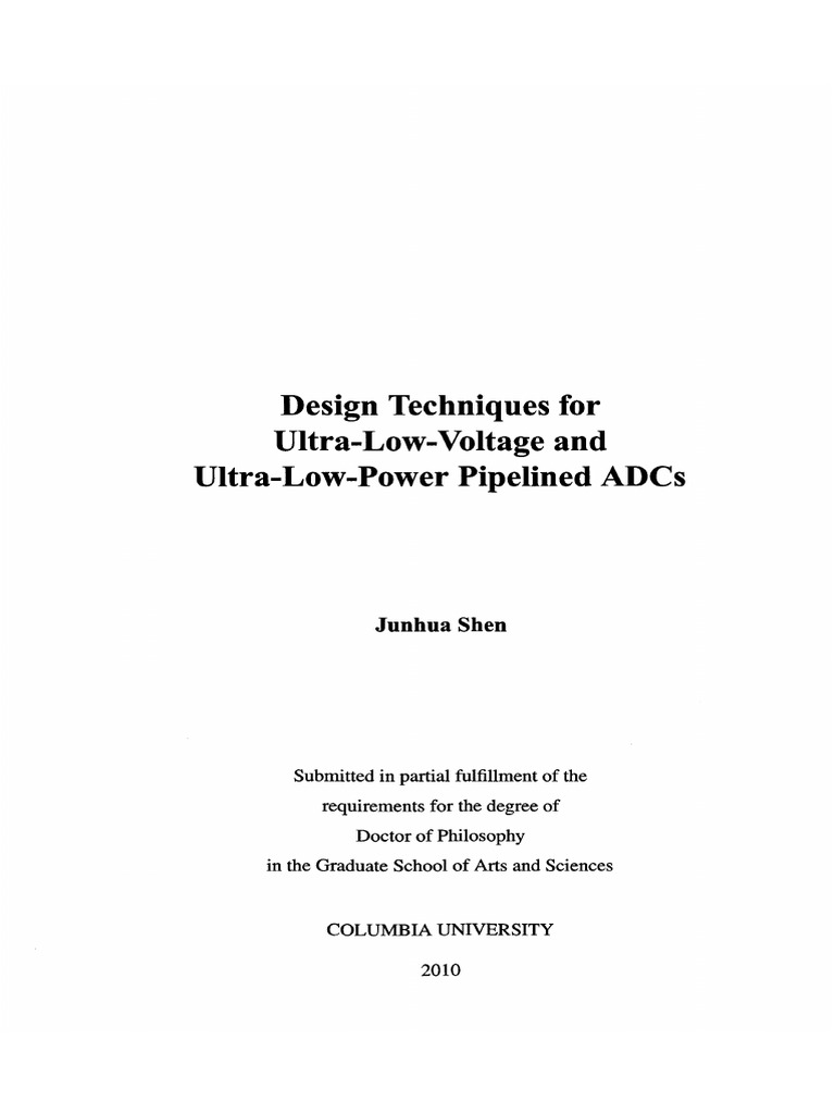 pipeline adc phd thesis Alternative title: precision hybrid pipelined analog-to-digital converter  thesis:  ph d, massachusetts institute of technology, department of electrical.