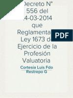 Ley 1673 - Decreto Reglamentario 556 Del 14-03-2014