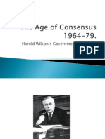 Wilsons Gov 1964-70 Consensus