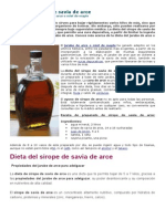 Dieta Del Sirope de Savia de Arce