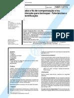 NBR 13774 (Jan 1997) - Cabo e fio de compensação eou extensão para termopar - Tolerâncias e identificação