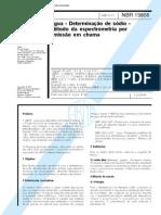 NBR 13806 (Abr 1997) - Água - Determinação de sódio - Método da espectrometria por emissão em chama