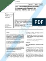 NBR 13807 (Abr 1997) - Água - Determinação de alumínio - Método da espectrometria de absorção atômica por chama