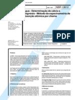 NBR 13812 (Abr 1997) - Água - Determinação de cálcio e magnésio - Método da espectrometria de absorção atômica por chama