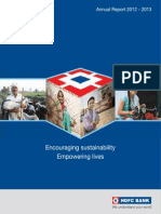HDFC Bank AnnualReport 2012 13