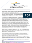 Applied Language Solutions Provide Spanish Coaching to School Children