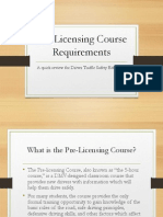 pre-licensing course requirements for nysdtsea - without transition animations