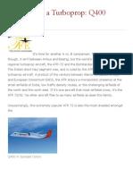ATR 72 VS Q400