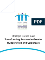 CHFT Strategic Outline Case Transforming Services in Greater Huddersfield and Calderdale