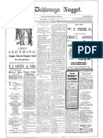 Life in the Georgia Gold Belt in 1900's -As Reported in the Dahlonega Nugget July 7, 1905 - W. B. Townsend & Others