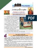 316. D2P a Sf. Grigorie Palama; Vindecarea Slabanogului