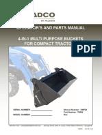 Loader 4 in 1 Bucket Installation and Parts Manual Om720