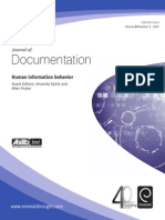 Human Information Behavior (Journal of Documentation)