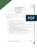 Examen de Fin de Formation TSGE 2010 Pratique Variante 2