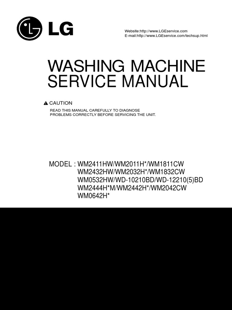 lg washer service manual washing machine electrical connector rh scribd com lg washer repair manual lg washer troubleshooting manual